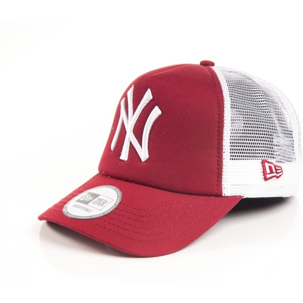 Kšiltovka New Era Trucker Clean Trucker New York Yankees Scarlet ... 8a599fce5a