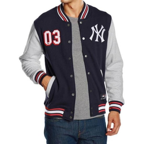 bunda MAJESTIC Fleece Letterman Jacket NEYYAN